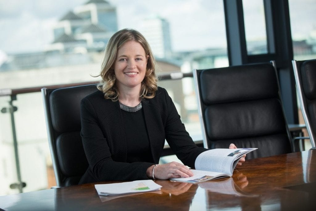 Experiential headshot profile photo photographed against a natural background in Chartered Accountant House Pearse Street Dublin